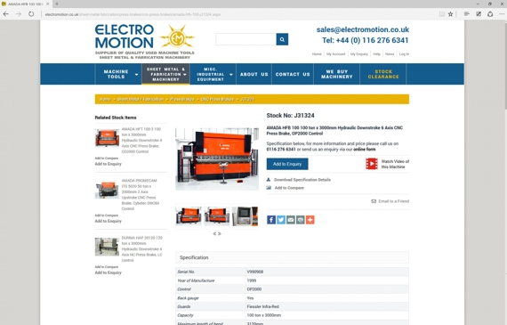 Used Machinery Specialists Electro Motion